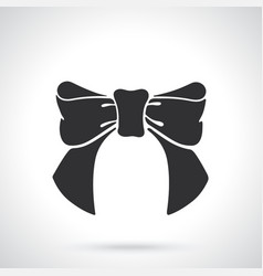 silhouette bow-knot ribbon vector image