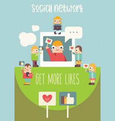 Social media poster vector