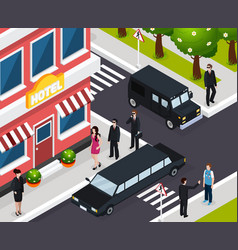 special agent isometric composition vector image