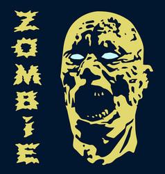 Spooky zombie screams head vector