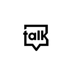 talk logo design inspiration vector image