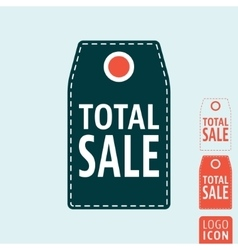 Total sale label icon vector