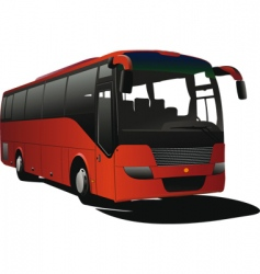 Tourist coach vector