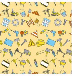 under construction tools instrument equipment vector image
