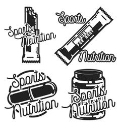 Vintage sports nutrution emblems vector