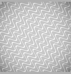 Wavy white lines gray background vector