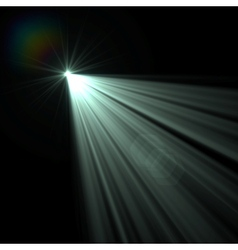 blue flare vector image