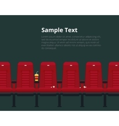 cinema chairs poster with sample text vector image vector image