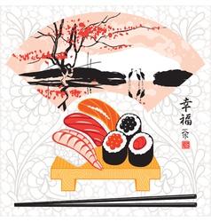 sushi herons vector image