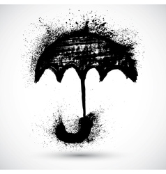 Umbrella grunge sketch vector