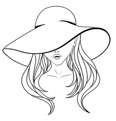 Young girl in a hat vector image