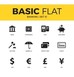Basic set of Banking icons vector image