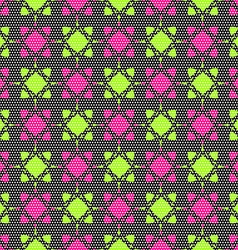Dot textured pattern with pink and bright green vector image