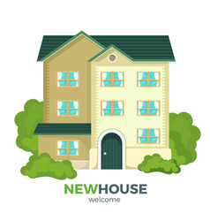 new multistorey house promotional poster with vector image vector image