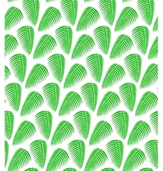 Palm leaves seamless pattern background vector image