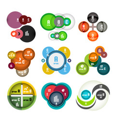 set of circle shaped bubbles infographic vector image vector image