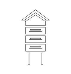 Wooden beehive icon outline style vector image vector image
