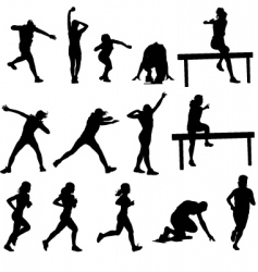 athletics silhouettes vector image vector image