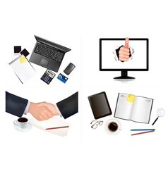 business and office backgrounds vector image