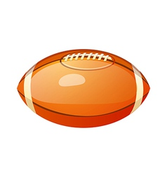 icon football vector image