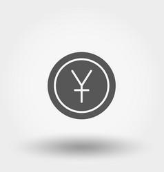 money sign coin yuan vector image vector image