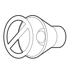 no sound mute icon outline style vector image