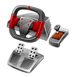 computer game wheel vector image