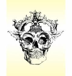 deranged grunge skull vector image vector image