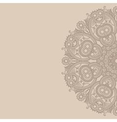 ornamental circle template vector image
