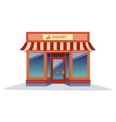 shop bakery modern style with isolated white vector image vector image