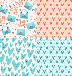 Valentines patterns vector image vector image