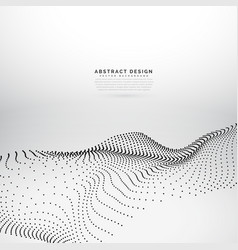 3d particle wave mesh dynamic wave background vector