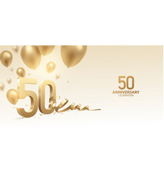 50th anniversary celebration background vector image