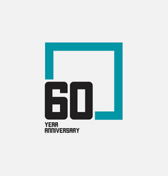 60 year anniversary square template design vector