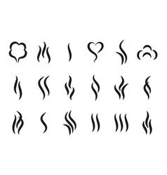 Aroma steam logo vapor or smell icons hot vector