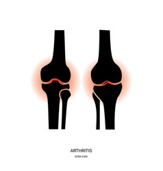 Arthritis and knee joint icon vector
