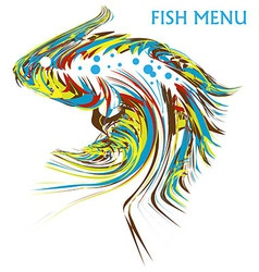 Artistic fish vector image