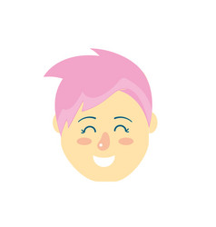 avatar woman head with hairstyle design vector image
