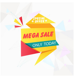 Banner special offer mega sale only today i vector