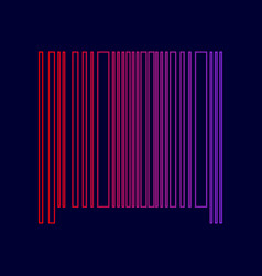 bar code sign line icon with gradient vector image