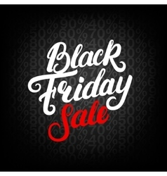Black Friday Sale hand written lettering vector image