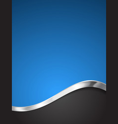 Blue abstract business background vector