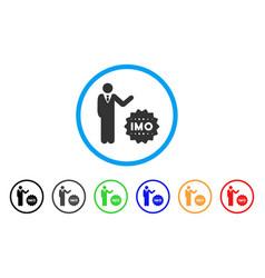 Businessman show imo token icon vector