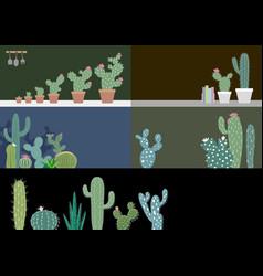 cactus in garden vector image