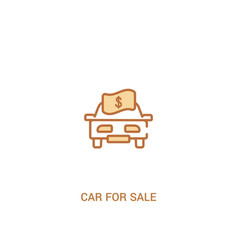 car for sale concept 2 colored icon simple line vector image