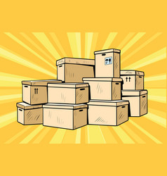 cardboard boxes for packaging vector image