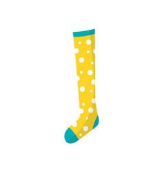 cartoon icon of little children s cotton sock in vector image