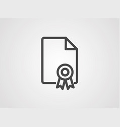 certificate icon sign symbol vector image