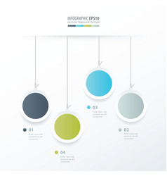 Circle hanging concept green blue gray color vector