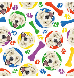 colorful and playful golden retriever vector image